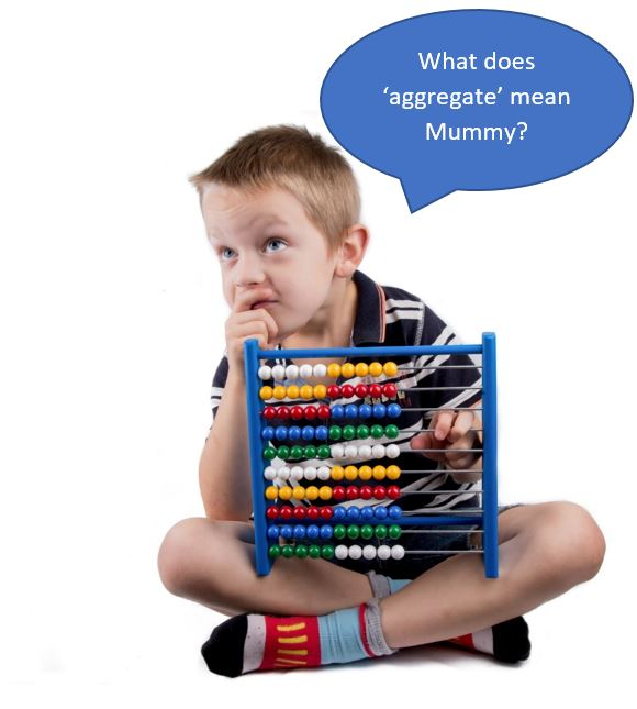 A young child who can't add up using an abacus
